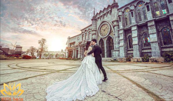 Chụp ảnh cưới Hà Nội tại phim trường