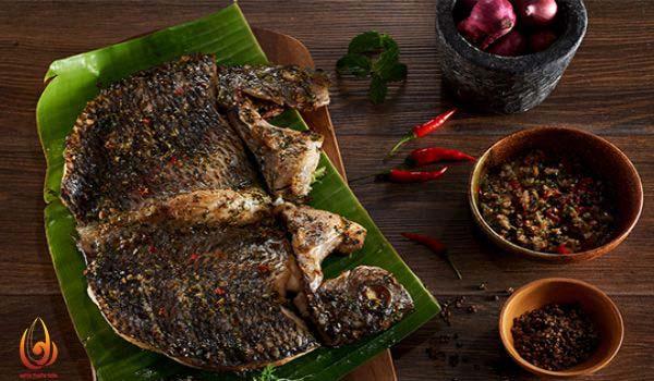 Ẩm thực dân tộc Thái Ba Vì-cá suối nướng