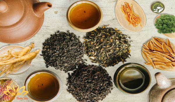 Trà dưỡng nhan có trà xanh chống lão hóa